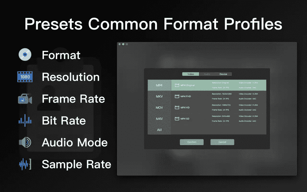More format profiles are coming! You can convert files by a simple click