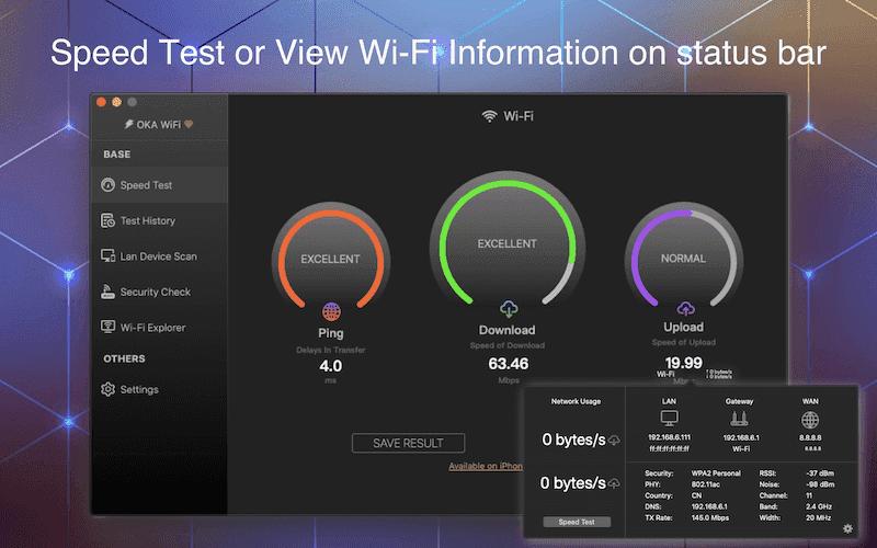 iWifi for Mac - SpeedTest & Signal Test