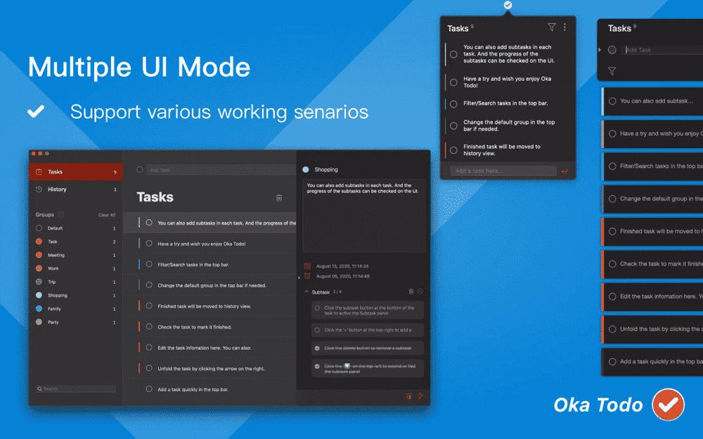 Multiple UI Mode