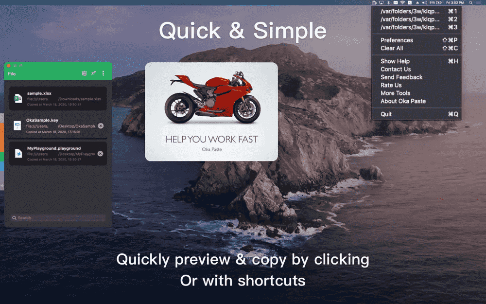 Quick & Simple Clipboard Manager for Mac